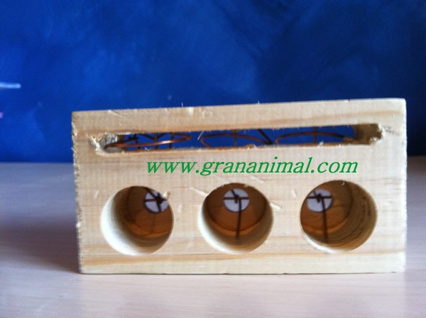 Cepo grande de madera para ratones