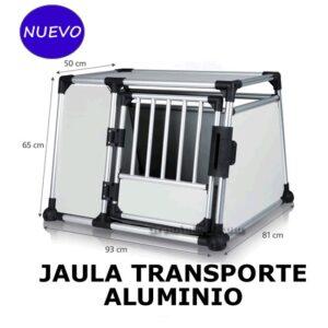 JAULA TRANSPORTE DE ALUMINIO PARA PERROS