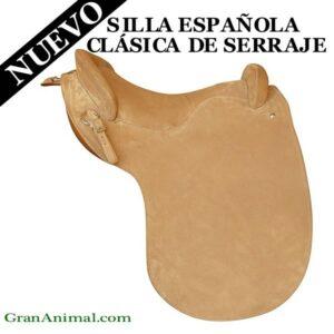 SILLA DE MONTAR ESPAÑOLA CLÁSICA DE SERRAJE