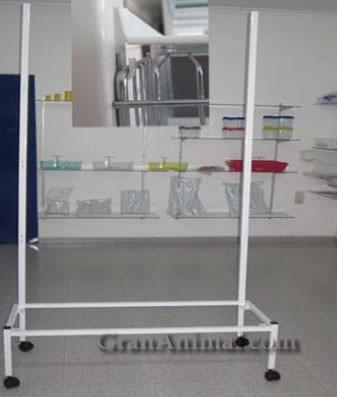 Soportes móviles de jaulas de un metro